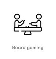 outline board gaming icon isolated black simple vector image vector image