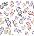pattern with pastel branches vector image vector image