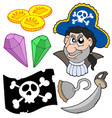 pirate collection 5 vector image vector image