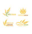 premium grain flat logotype designs set vector image vector image
