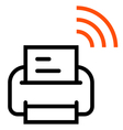 Printer with Wifi icon vector image vector image