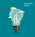 renewable wind energy concept flat vector image