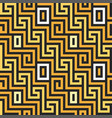 seamless greek gold ornament meander vector image