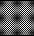 seamless pattern with white polka dots on black vector image vector image