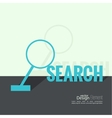 Search with a magnifying glass vector image vector image
