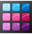 set backgrounds with clouds for app icons vector image vector image