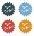 set of stickers with the inscription new product vector image vector image