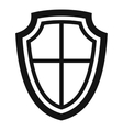 Shield icon in simple style vector image vector image
