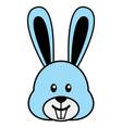 simple cartoon a cute rabbit vector image vector image
