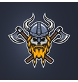 Skull viking warrior vector image