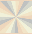 sunburst background pattern with a vintage vector image