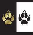 symbol of the year trace of dog s paws vector image