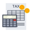 tax calculation concept vector image vector image