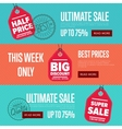 Ultimate sale discount banner set vector image vector image
