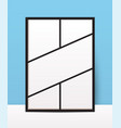 vertical collage layout template frames for photo vector image vector image