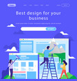 web site design template business team vector image