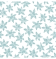 Winter flowers seamless pattern vector image vector image
