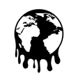 world planet earth drops oil icon vector image