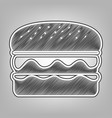 burger simple sign pencil sketch vector image