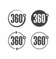 360 degrees view sign icon vector image