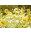 Sunflowers Background on a Summer Day vector image