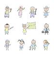 children in uniforms vector image