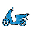 scooter motorcycle silhouette vector image