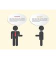 Two businessmen in conversation vector image