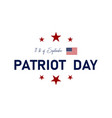 911 patriot day in usa we will never forget 11 vector image