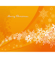 Abstract orange background with snowflakes and vector image vector image