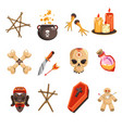 african occult practices or voodoo tribal vector image vector image
