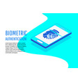 biometric authentication methods isometric vector image