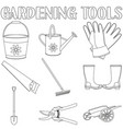 black and white garden icon set 9 elements vector image vector image