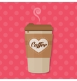 Bright color Paper Coffee cup concept vector image
