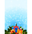 christmas card with fir mistletoe and decoration f vector image vector image