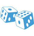 dice illustration vector image vector image