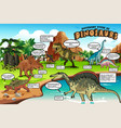 different types dinosaurs infographic vector image