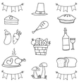 Doodle of element thanksgiving hand draw vector image vector image