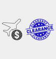 dot airplane price icon and grunge vector image vector image