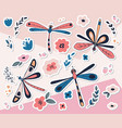 dragonfly sticker collection vector image vector image