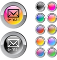 email multicolor round button vector image