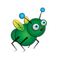 fantasy green bug insect vector image vector image