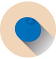 flat blueberry round berry vector image