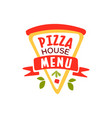 flat pizza house logo creative design element vector image vector image