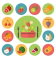 Fruit icons food set for cooking restaurant menu vector image