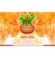 goddess durga in subho bijoya happy dussehra vector image vector image