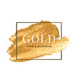 gold frame and border template watercolour brush vector image vector image