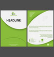 green abstract flyer template vector image vector image