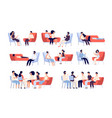 group therapy people crowd consulting vector image vector image