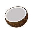 half coconut icon vector image vector image